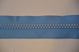 Reißverschluss, teilbar, 70cm, Farbe: Hellblau