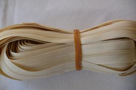 Endlosreißverschluss Insklusiv 3 Zipper Farbe: Beige