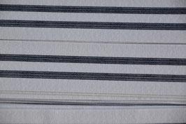 Ripsband, Weiß/Schwarz, 25mm