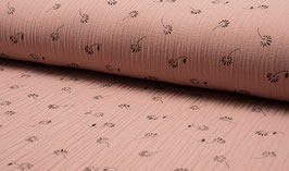 Musselin Print - Dusty rose