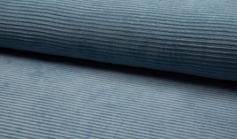 Elastischer Cord - Rippenjersey blue