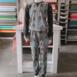 Schlafanzug für Mädchen und Jungen in Gr. 122 bis 140