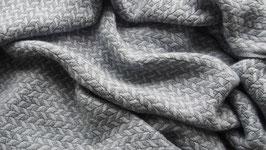 Schal Trenza - graublau