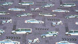 Jersey - Baumwolle - Druck - Polizei - blau