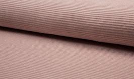 Elastischer Cord - Rippenjersey rosa