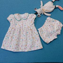 """Baby Kleidchen Blumig - mit passender Hose """"Känguru"""""""