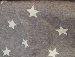 Jersey - Weisse Sterne auf grau - H130