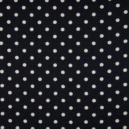 Viscose - Dots Marine/Schwarz