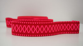 Gurtband - Woven Indian Base Red - Fluo Pink Assos - 5cm