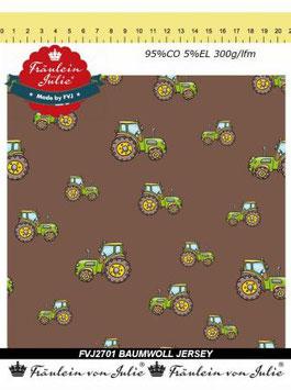 Jersey - Baumwolle - Druck -  Traktor HD151