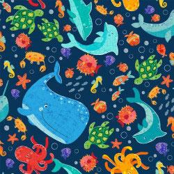 Under The Sea - Liza Lewis - Baumwolle