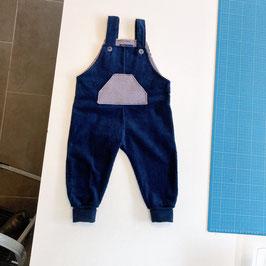 Strampler - Cord - dunkel blau