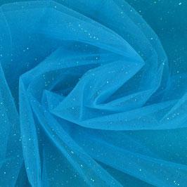 Glitzertüll Blau