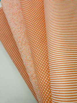 "8  Stück  Patchwork Stoffe, Baumwolle gedruckt. "" naranja"""