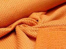 Elastischer Jacquard Bio-Albstoffe Orange/Rost
