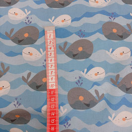 QT fabrics - blue whales Z161