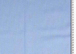 Popeline Baumwolle - Punkte basic Jeansblau
