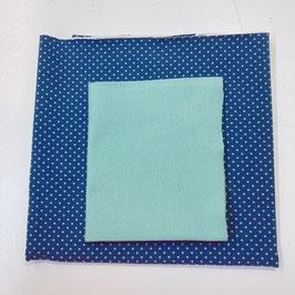 Stoffpaket Jersey - Dot Blue / Mint, Bündchen mint