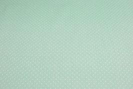 Popeline Baumwolle - Punkte basic Mint