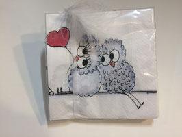 lovebirds logo  servietten