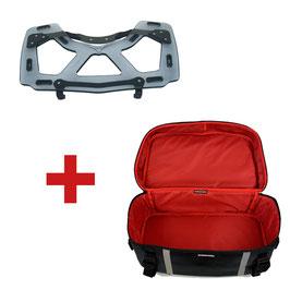 Porte baggage en Plexiglas pour Topcase BMW K1600GT/R1200RT LC + Sacoche