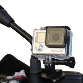 Support caméras sportives sur rétroviseur