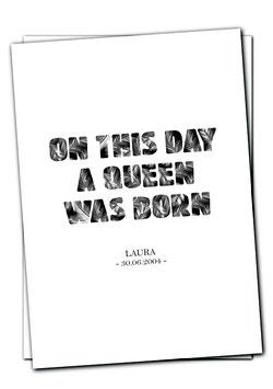 Queen was born - Karte
