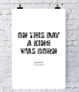 King was born