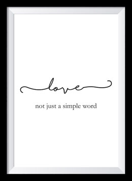 Love - not just a simple word