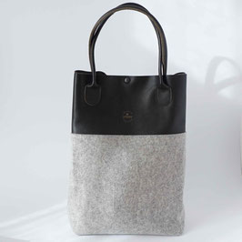 le flaneur - shopper black/ light grey