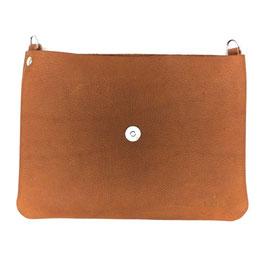le flâneur Taschenkörper braun/ silber