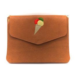 Ice Cream Lover / Braun - le flâneur custom bag