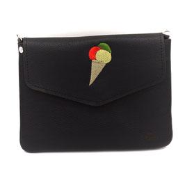 Ice Cream Lover / Schwarz - le flâneur custom bag