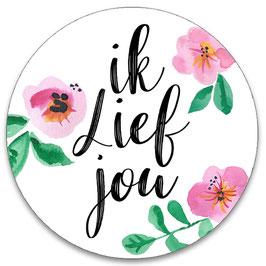 10 stickers 'ik lief jou'