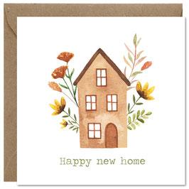 'Happy new home' wenskaart