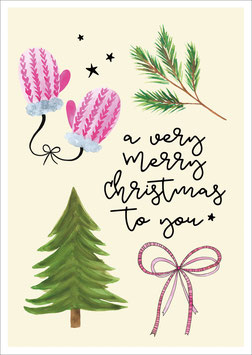 Very merry Christmas to you' ansichtkaart