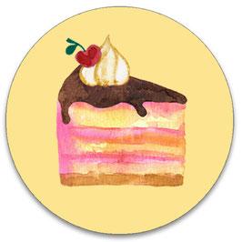 10 stickers 'taartje'