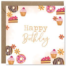 'Happy birthday' wenskaart