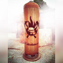 Feuertonne - Feuerwehr Helm