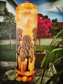 Feuertonne - Drei Bäume