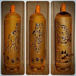 Feuertonne - Wolf mit Wolfskopf inkl. Ascheklappe