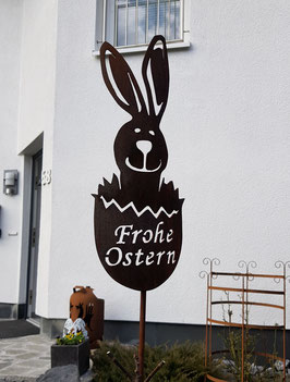 Großer Osterhase Nickel - Frohe Ostern