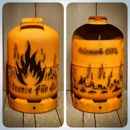 11kg Feuertonne - Flammen mit Ich brenne für dich