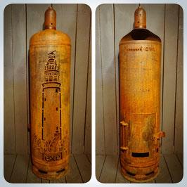 Feuertonne - Leuchtturm Texel inkl. Schriftzug