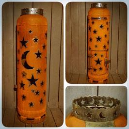 Feuertonne - Sterne & Mond inkl. Ascheklappe und Krone