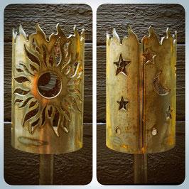 Fackel - Sonne mit Sternen & Mond