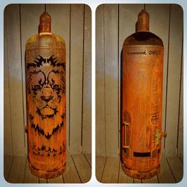 Feuertonne - Löwe inkl. Ascheklappe
