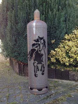 Feuertonne - Mustang inkl. Ascheklappe