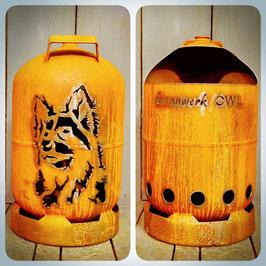11kg Feuertonne - Schäferhund