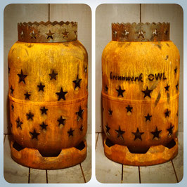 11kg Feuertonne - Sterne umlaufend mit Sternenkrone